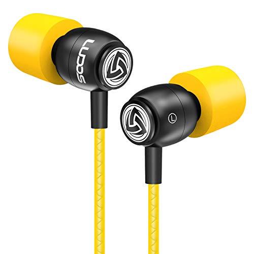 LUDOS CLAMOR Auricolari In-Ear Cuffie con Audio di alta Qualità, Memory Foam di Nuova Generazione, Cavo Rinforzato, Cuffiette con Microfono, Bassi, Controllo del volume per Samsung, iPhone, Huawei