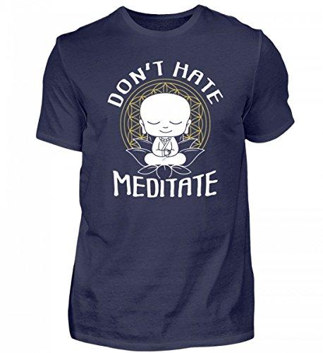 Hochwertiges Herren Shirt - Meditation Buddha T-Shirt Zum Meditieren OM Yoga Zen Geschenkidee Buddhismus Chakra Spruch