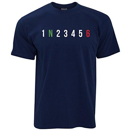 Tim And Ted Motorrad Herren T-Shirt 1 N 2 3 4 5 6 Gänge Zweiräder Motorrad übersichtliches Design
