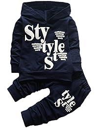 Kobay Kleinkind Baby Boy Style Brief Drucken Hood Tops Muster Hosen 2 ST/ÜCKE Set Kleidung