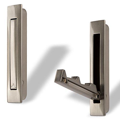 1 x Gancho Giratorio Triple TROMSO Acabado Cromado Negro 53 x 50 mm Base /Ø 40 mm Distancia Agujero 25 mm Aluminio Colgador Colgadero de SO-TECH