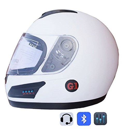 GREEN STONE Launch G1 Series Bluetooth Helmet Matte White size-580 & 600mm