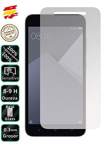 Movilrey Protector de Pantalla Cristal Templado Vidrio 9H para Xiaomi Redmi Note 5A Prime