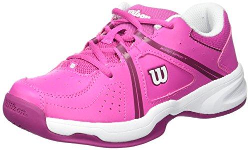 Wilson Junior Tennisschuhe Envy Jr, für jeden Untergrund, Synthetik, Rosa/Weiß/Violett (Rose...
