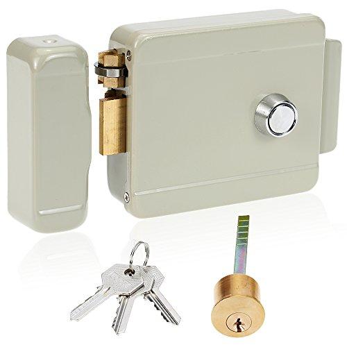 Kkmoon serratura magnetica elettrica della porta elettrica serratura elettromagnetica destro-mano apertura per sistema di sicurezza di controllo di accesso del citofono del campanello