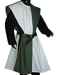 Mittelalter Waffenrock im Schachbrettmuster, weiß/grün, Freesize 1480