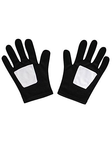 Spider-Man schwarz Handschuhe, Kinder Ultimate Spider-Man Kostüm (Kostüme Handschuhe Schwarzer Spider Man)