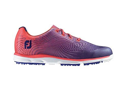 Footjoy Damen Empower Golfschuhe, Mehrfarbig (Orange/Blau), 39 EU