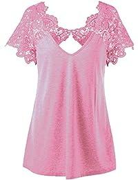 Kangrunmy Débardeur Femmes sans Manche Casual Elegant Eté Gilet Tops T-Shirt