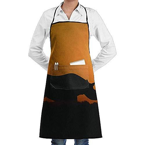 UQ Galaxy Schürze,Erstaunliche Rhino Wallpaper Schürze Lace Unisex Chef verstellbare Lange vollschwarze Küche Schürzen Lätzchen mit Taschen zum Basteln Garten - Erstaunlich Kostüm Zum Verkauf