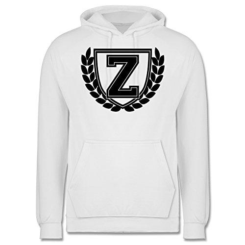 Anfangsbuchstaben - Z Collegestyle - Männer Premium Kapuzenpullover / Hoodie Weiß