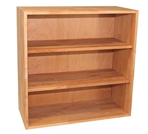 Großes Bücherregal, Sideboard, Kommode, Regalwürfel aus Massivholz Buche, erweiterbar, echtes Holz Buche Bücherregal