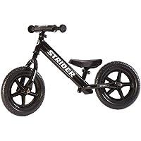 Strider Bicicleta sin pedales 12 Sport, para niños de 18 meses a 5 años, negra