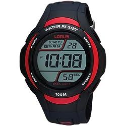 Lorus-R2307EX9-Men's Watch Digital Quartz Stopwatch/Alarm/Light Black Rubber Strap
