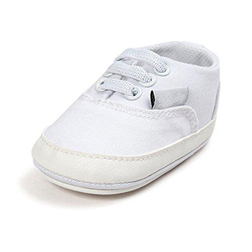 Baby Kinder Schuhe Premium Weiche Sohle Schuhe Anti-Rutsch Kleinkind Schuhe für 0-18 Monate Weiß