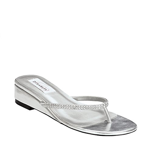 Dyeables Chelsie Silver, Peep-Toe donna, Argento (argento), 38.5
