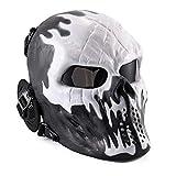 HS-GUANLY Casque Tactique Halloween Cosplay Masque ABS Casque De Vélo Protection...
