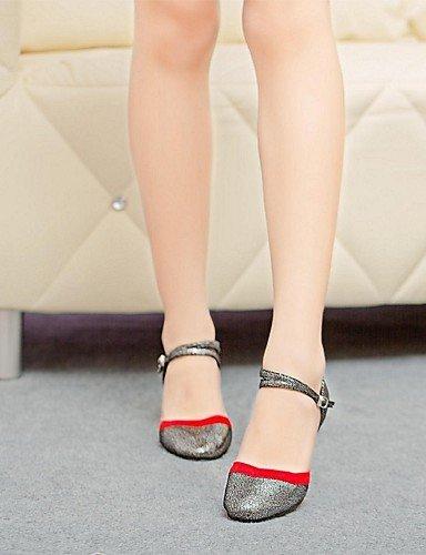 ShangYi Chaussures de danse (Noir/Bleu) - Non personnalisable Cuir/Flocage - Moderne Blue