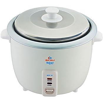 Bajaj Majesty RCX-18 550-Watt Rice Cooker (White)