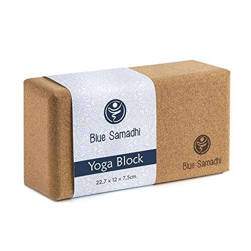 Blue Samadhi Premium Yoga Block – ideal für Anfänger und Profis geeignet – der nachhaltige Yogablock für Ihr Zuhause…