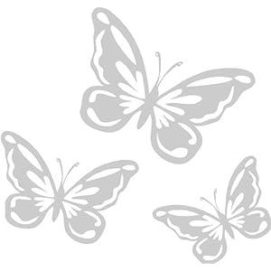 Fensteraufkleber Schmetterlinge, Vinyl, Milchglas-Effekt