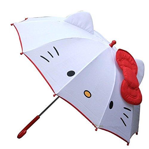 Hello Kitty Oreja con Jump paraguas, color blanco