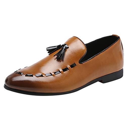 Scarpe da Uomo Casual in Pelle Scamosciata con Una Gamba Sola, Vestito A Punta Uomo Mocassini Eleganti in Pelle Comode Scarpe Traspiranti