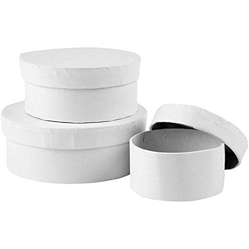 Preisvergleich Produktbild Pappschachtel-Set, rund, D: 7+9+11 cm, 18 sort.