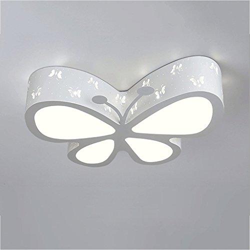 Lampada a soffitto lampada da tavolo semplice moderna a led 24w, lampada a sospensione a forma di farfalla creativa personalizzata, plafoniere illuminazione di moda per la camera da letto per bambini (bianco freddo)