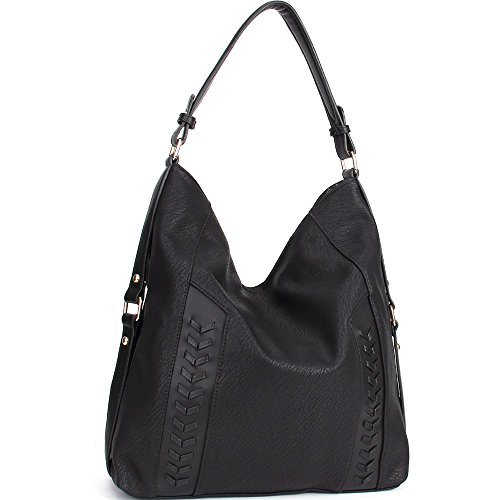 Caseland Women Handbags PU Leather Handbags Shoulder Hobo Bags Women Tote Bags Handbags for Women (Black)
