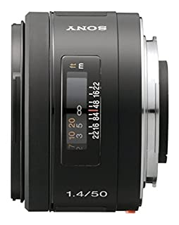 Sony SAL50F14 - Objetivo para Sony (Distancia Focal Fija 50mm, Apertura f/1.4-22, diámetro: 55mm) Negro (B000GSVQY0) | Amazon price tracker / tracking, Amazon price history charts, Amazon price watches, Amazon price drop alerts