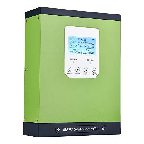 Akozon MPPT Solarladeregler 40/50 / 60A MPPT Solarladeregler 12V24V48V Automatische Erkennung MPPT-Laderegler TYC-50IR für Blei-Säure- / Lithium- / Gel-Batterie(12/24/48V AUTO,60A)