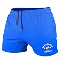 Heren Bodybuilding Sportschool Training Shorts Sport Fitness Badstof katoen Korte broeken Blauw Medium