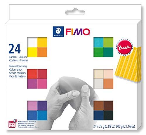 Staedtler Bloques masa modelar Fimo soft. Caja 24