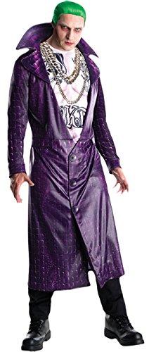 Confettery - Herren Deluxe Joker Kostüm , Lila, Größe (Kostüme Luigi Herren Deluxe)