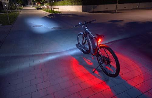 FISCHER LED Beleuchtungsset, mit 360° Bodenleuchte für mehr Sichtbarkeit und Schutz