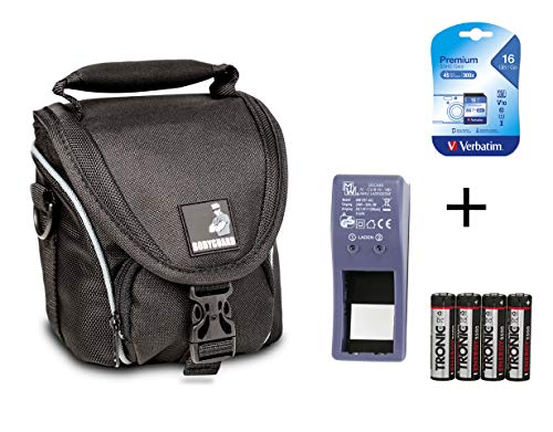 SPARSET - passend für Nikon Coolpix L330 L340 L840 B500 : Tasche + 16GB SD Speicherkarte + Ladegerät für AA Akkus + 4X NiMH Akkus