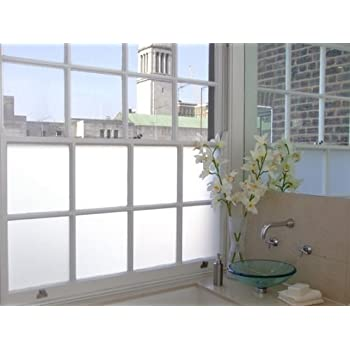 White Privacy Frosted Glass Filmwindow Film 2m X 1m Amazon