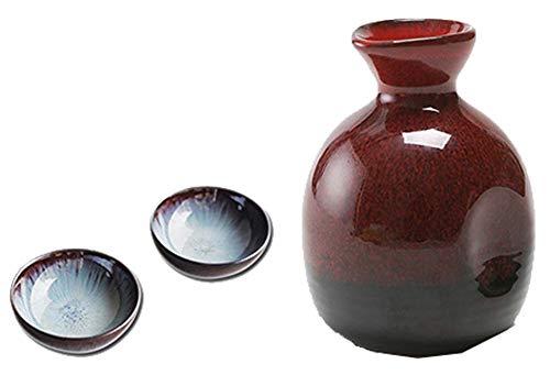 Black Temptation Bouteille de vin en céramique de Style Ancien mis en Verre Set de vin de saké-Y3