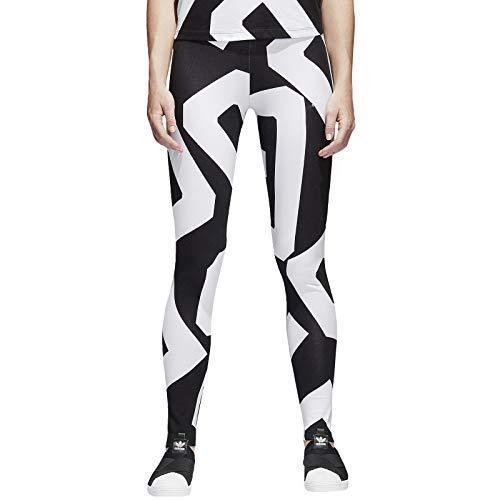 Adidas CY7394, Mallas Mujer, Color Negro/Blanco