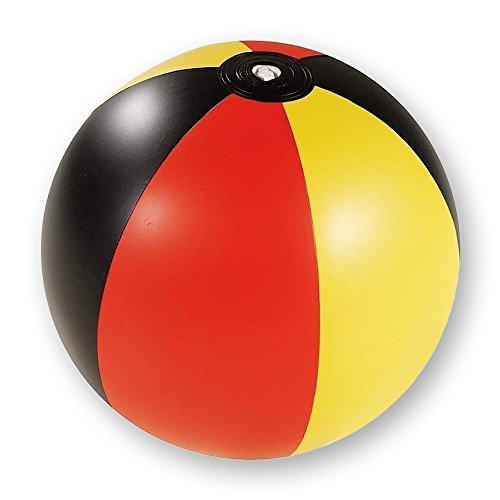 l Strandball Ø 30 cm Beachball Deutschland Weltmeister Design in schwarz rot Gold Urlaub Ferien Fussball Fanartikel Beach Strand Spiel Ball ()