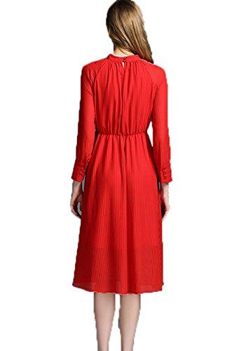 GBT Roter Streifen Loses Kleid Rot