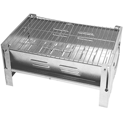 DeltaSat MobiGrill Holzkohlegrill BBQ Picknickgrill Campinggrill Grill / faltbare mini Klappgrill als Tischgrill Standgrill / ideal für Picknick Camping Garten / Barbecue outdoor Party