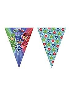 Procos guirnalda de banderines de plástico Super pigiamini-pj Masks, Multicolor, 5pr88636