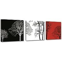 Cuadros en Lienzo 150 x 50 cm Nr. 4208 arte moderno enmarcado y listo para colgar, calidad de la marca Visario