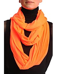 Fluorescent Orange Two Or Three Loops Snood - Multicolore Écharpe Taille Unique - 50cm x 230cm