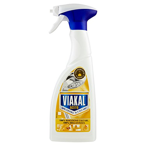 Viakal–Desincrustante y limpiador, elimina la cal, brillo con vinagre–5unidades de 500ml [2500ml]