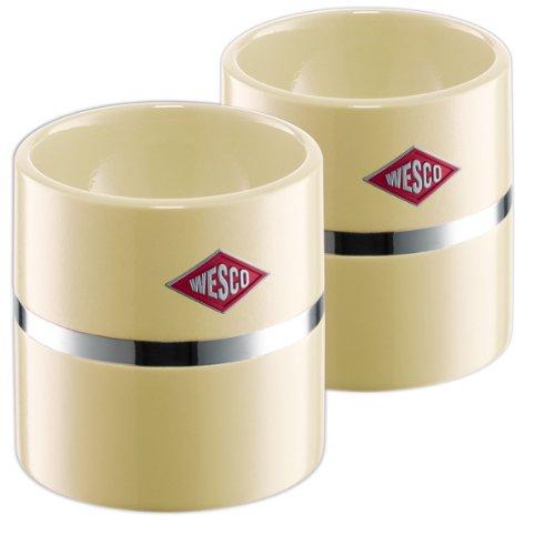 Wesco 322864-23 - Huevero (5,00 x 5,00 cm, 2 unidades), color beige preisvergleich