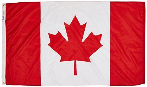 Annin Flagmakers Nylon SolarGuard NYL-Glo Flagge Kanada 3x5' Nicht zutreffend -