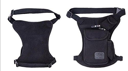 Zll/Gamba Esercito fan Pack Outdoor tattico casual tela sport utility da moto Leggings Borsa Portafoglio Uomo, nero nero